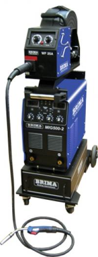 Сварочный инверторный полуавтомат BRIMA MIG-500-2 на тележке с 4-х роликовым подающим механизмом и горелкой (380 В)