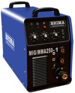 Сварочный полуавтомат инверторный одноблочный BRIMA MIG/MMA-250-1 (220 B)